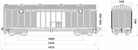 Грузоподъемность -- 68 т Масса тары вагона -- 24 т Объём кузова -- 120м3.  Назначение: для перевозки различных...